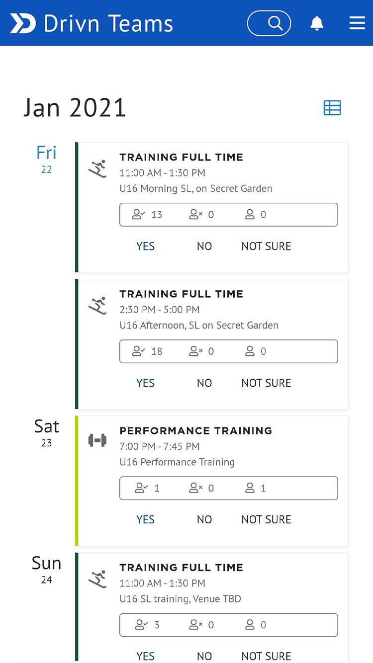drivn app dashboard screenshot